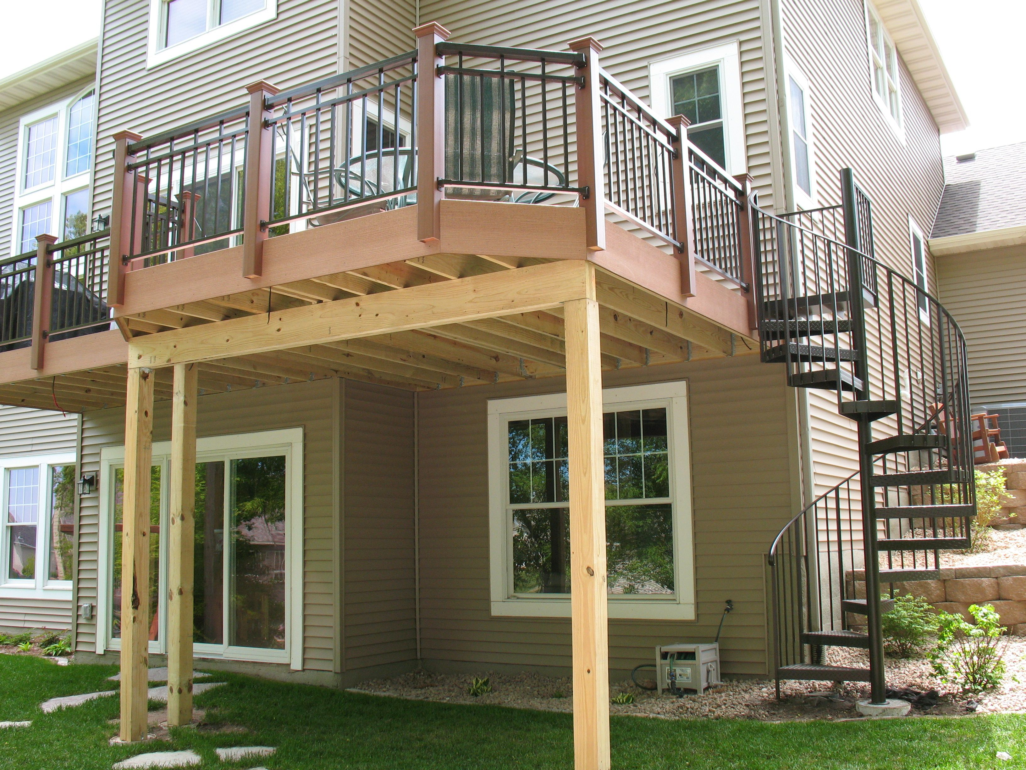 Best Outdoor Spiral Deck Stairs Deck Stairs Stairs 400 x 300