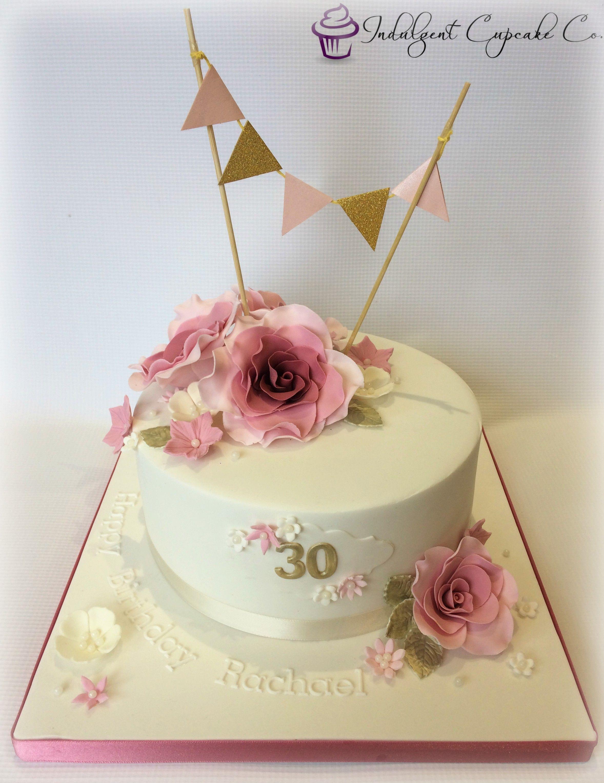 Pleasing Pretty 30Th Birthday Cake 90Th Birthday Cakes Birthday Personalised Birthday Cards Vishlily Jamesorg