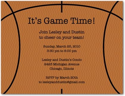 Creative Champion themed invites What a cute way to invite people – Basketball Party Invitations