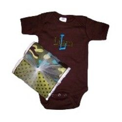 Chocolate Brown & Turquoise Onesie