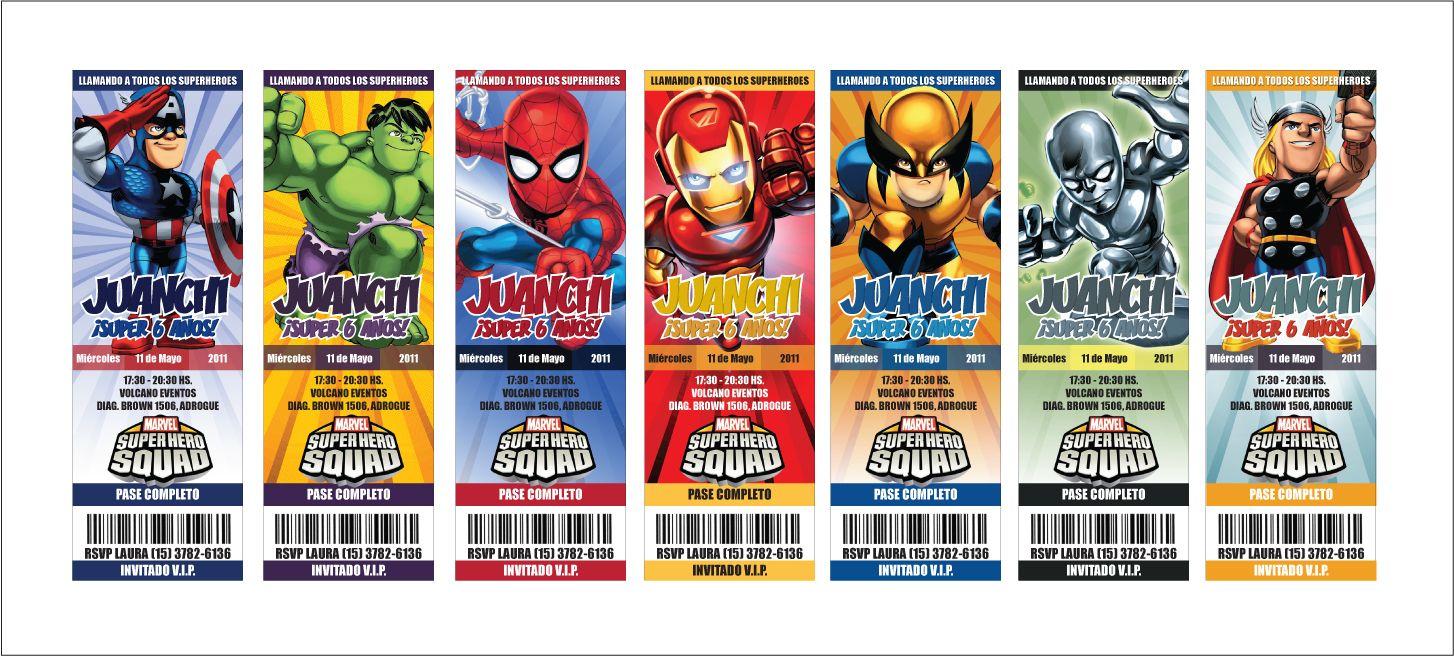 Detalles en Papel. Tienda de Tarjetas: Escuadrón de Superheroes ...