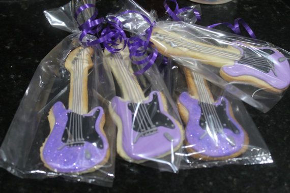 Guitar cookies by Ladybugcakesdotcom on Etsy