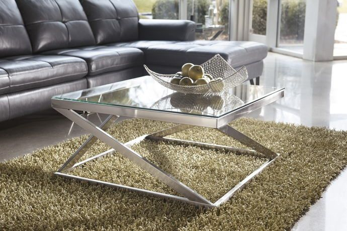 Ashley Furniture T136 8 Coylin Nickel Finish Metal And Glass