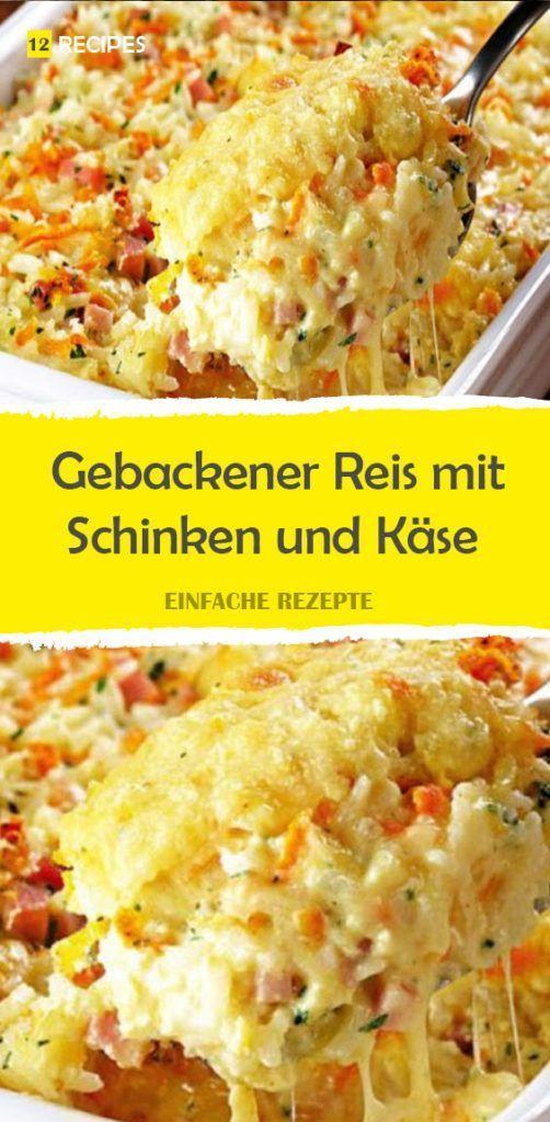 Gebackener Reis mit Schinken und Käse  Deftiges