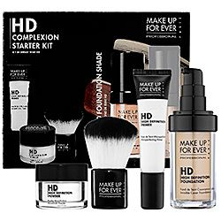 What it is: An essential kit for achieving a flawless, high-definition complexion in three simple steps.What it does: HD Complexion Starter Kit features three must-have HD Complexion products paired with an HD Invisible Cover Foundation shade of your