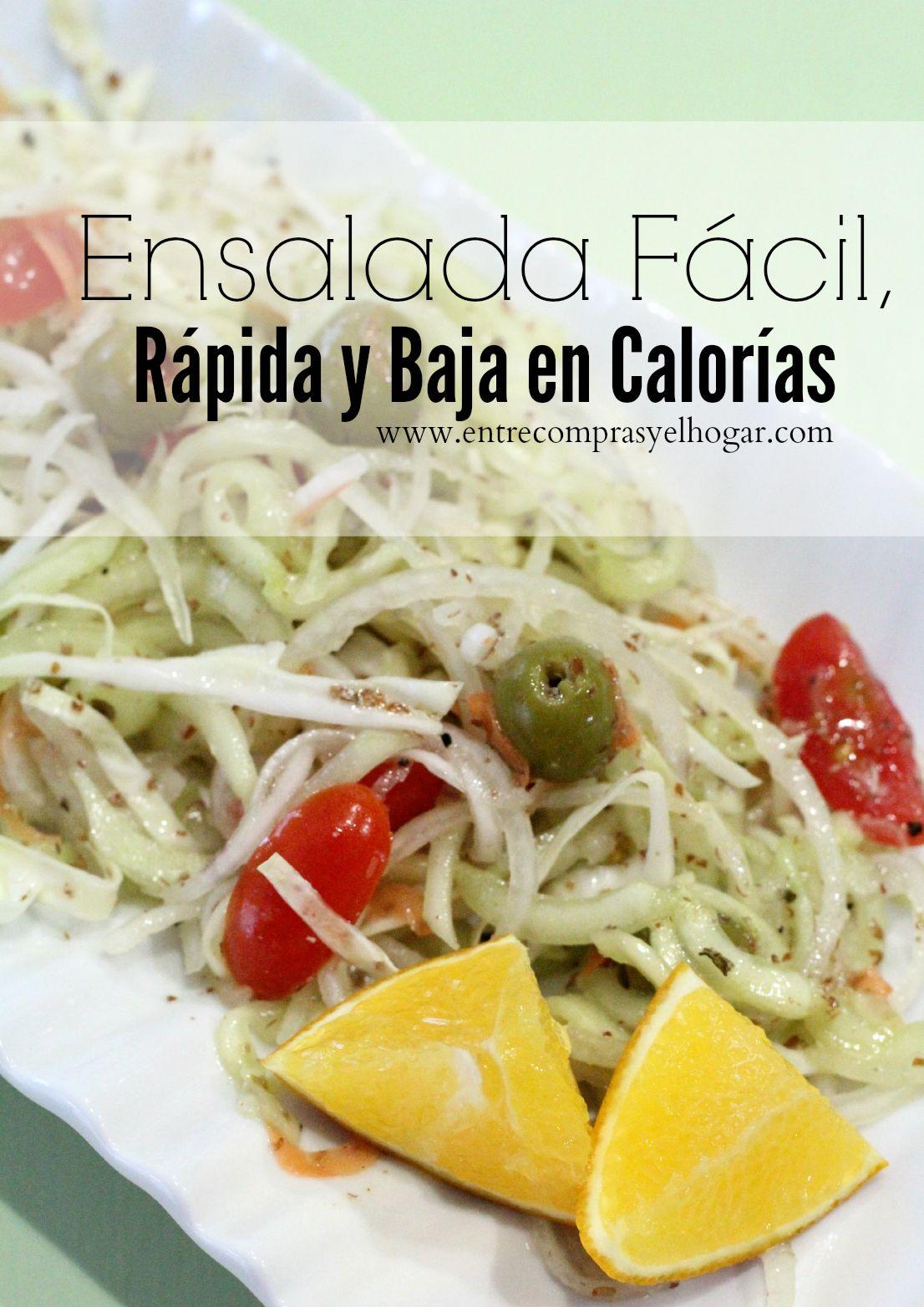 Ensalada f cil r pida y baja en calor as recetas bajas - Comidas sanas y bajas en calorias ...