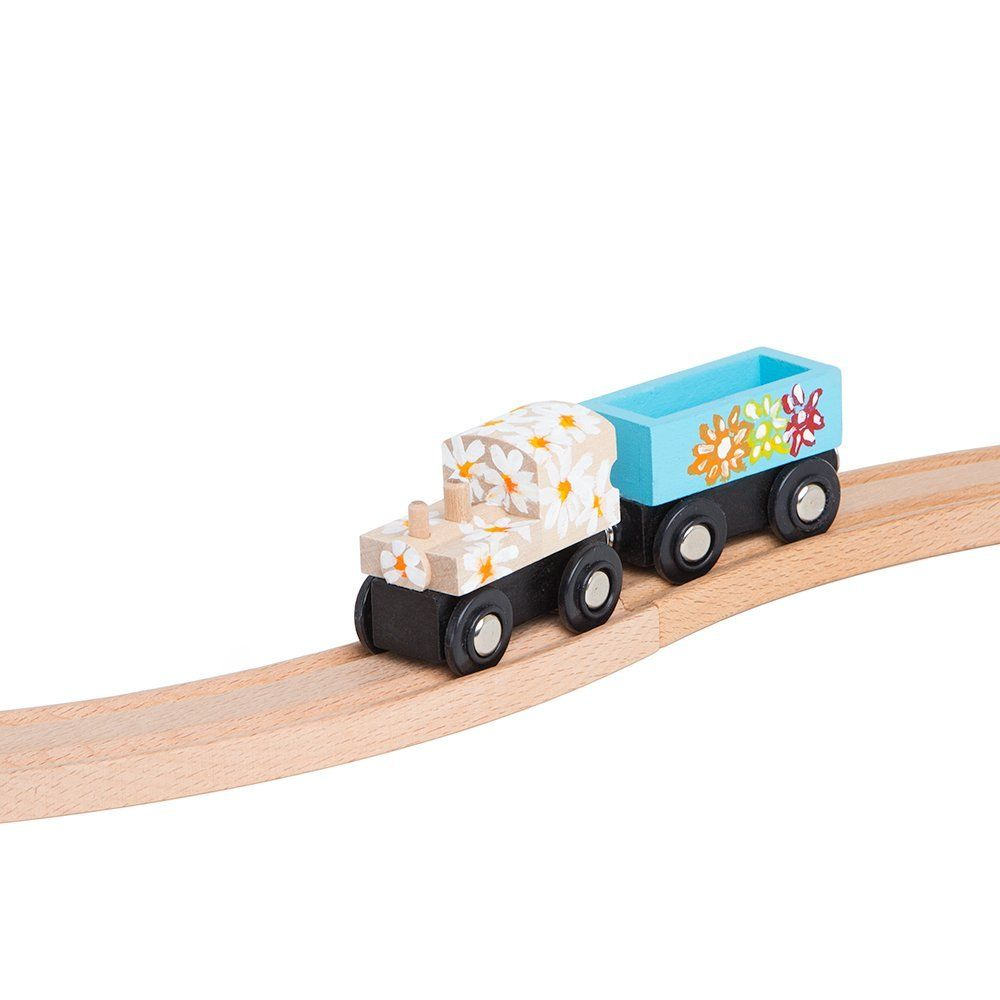 Amazon.com: Unpainted Wooden Train Cars Compatible with Thomas ...