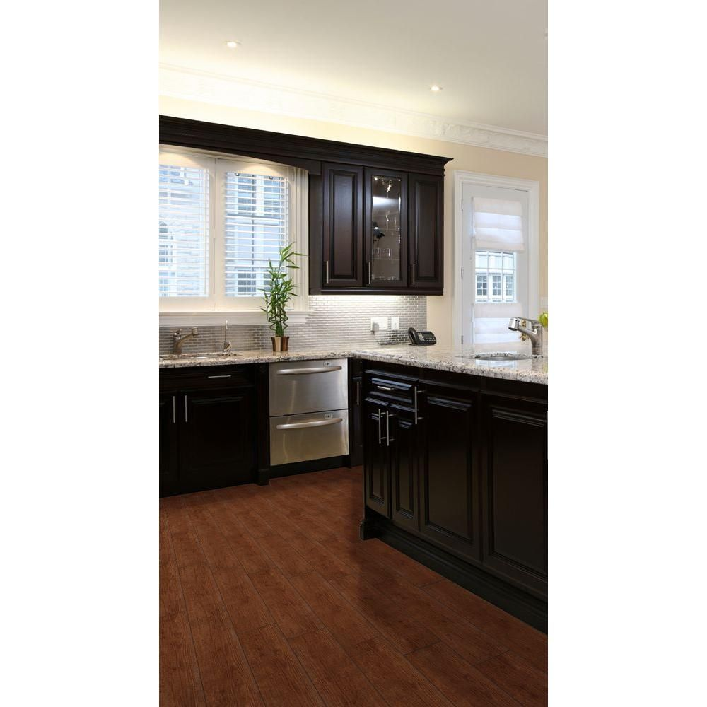 Ms International Sonoma Oak 6 In X 24 Glazed Ceramic Floor And Wall Tile 14 Sq Ft Case Brown