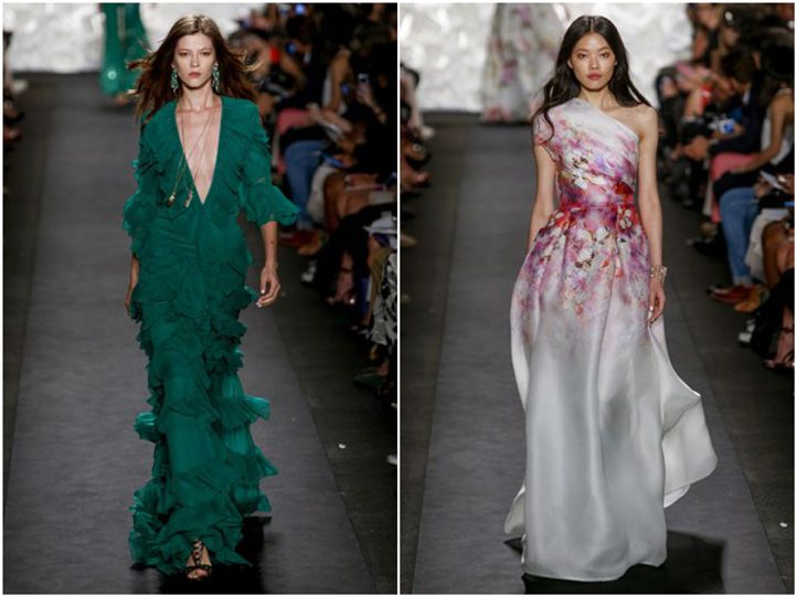 Dress Inspiration: New York Fashion Week Sept 2014 Models wearing Naeem Khan SS15 runway collection http://www.pierrecarr.com/blog/2014/09/dress-inspiration-ny-fashion-week-sept-14/  #newyorkfashionweek #naeemkhan
