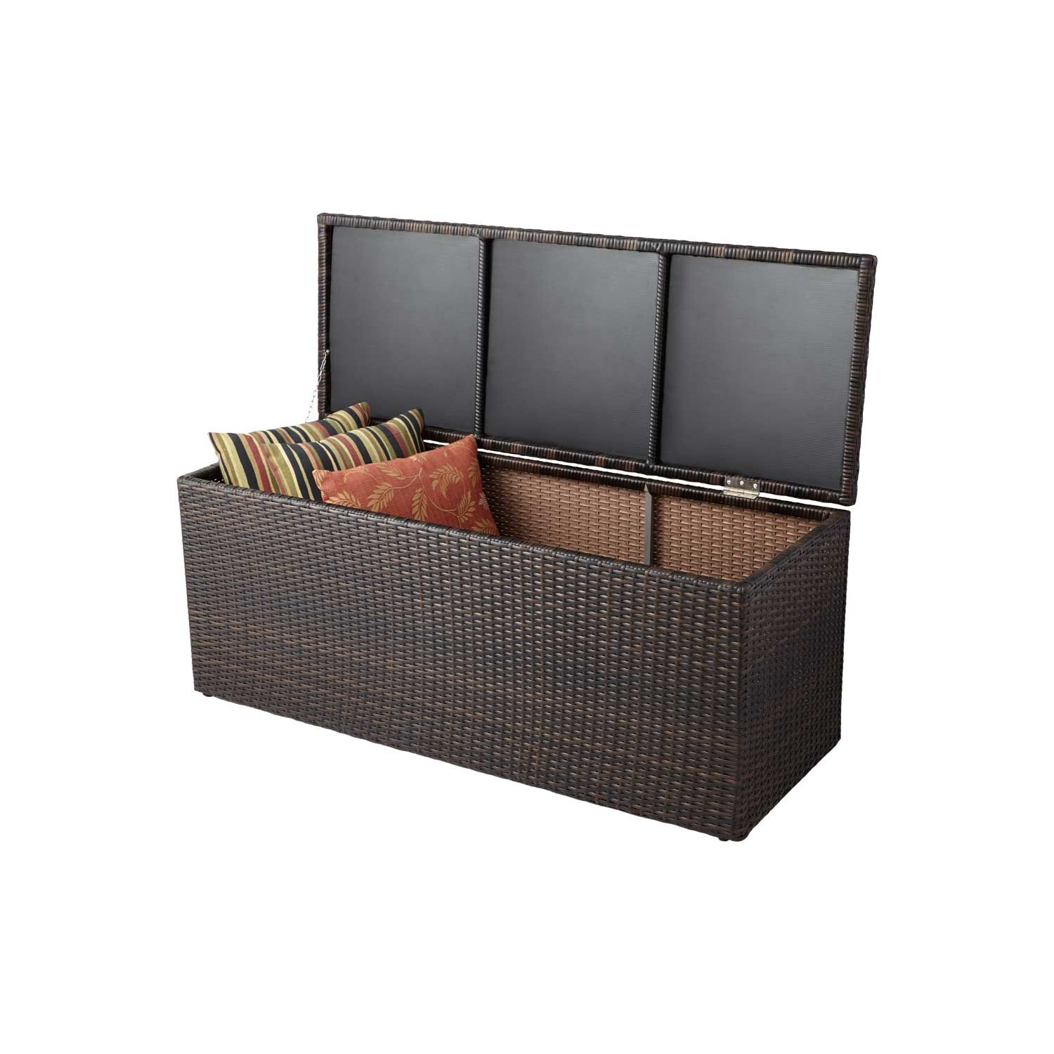 Resin Wicker Outdoor Storage Trunk