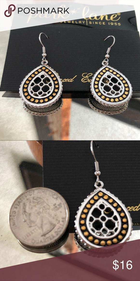 ️Park Lane Earrings ️ Silver/Gold plated Tear Drop ...