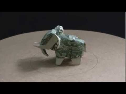 Dollar Bill Origami Elephant Youtube Paper Folding Pinterest