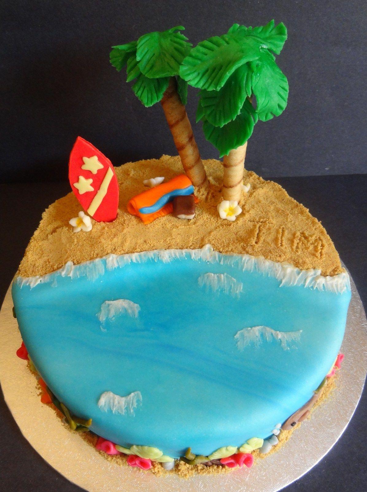 Hawaiian cake surf cake hawaiian birthday cakes beach