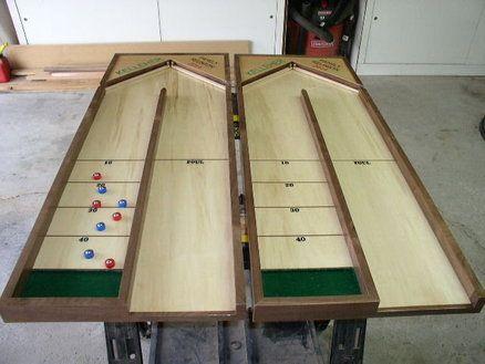 Table Top Shuffle Board Outside Games Shuffleboard