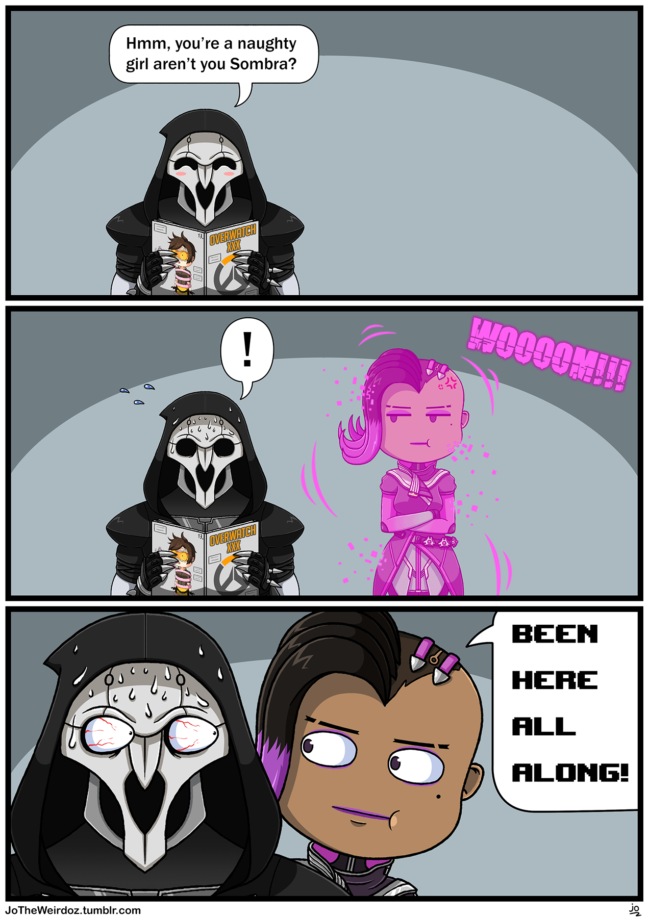 6ca172951956b25fda70725d5d5e8f08 overwatch comic based on an inside joke about sombra me and my
