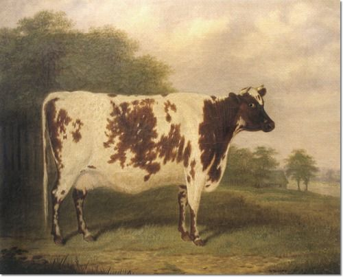 E. Brown - Cow in a Landscape 1874 Painting