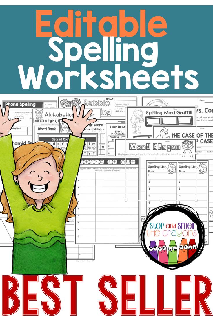 Editable Spelling Worksheets Spelling Worksheets Spelling Activities Spelling Lists [ 1102 x 735 Pixel ]