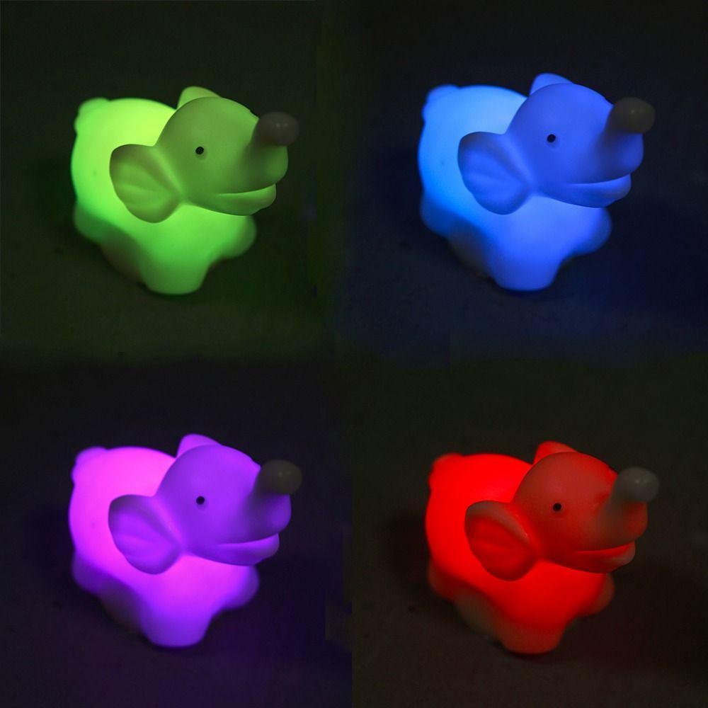 1 Stücke 7 Farbwechsel Elephant Led-nachtlicht Lampe mit Batterie ...
