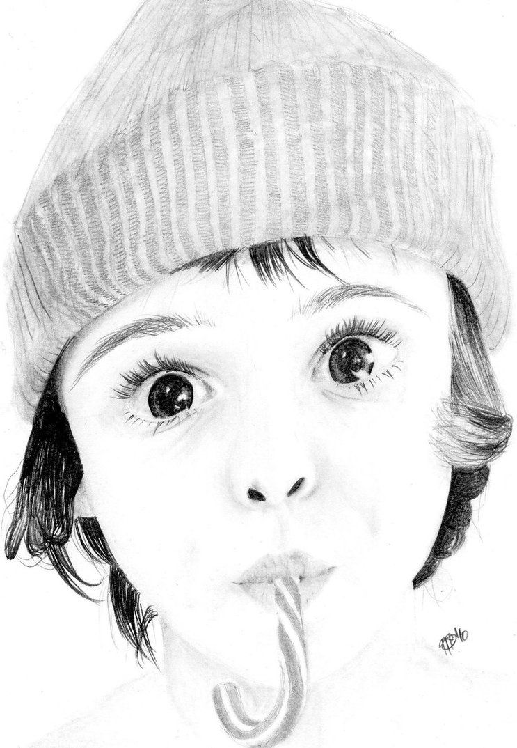 Little boys face sketch