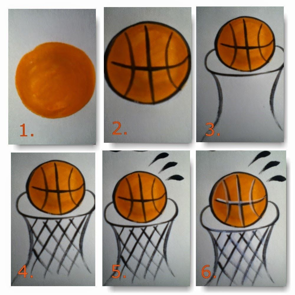 easy step by step instructions for how to paint a basketball with a