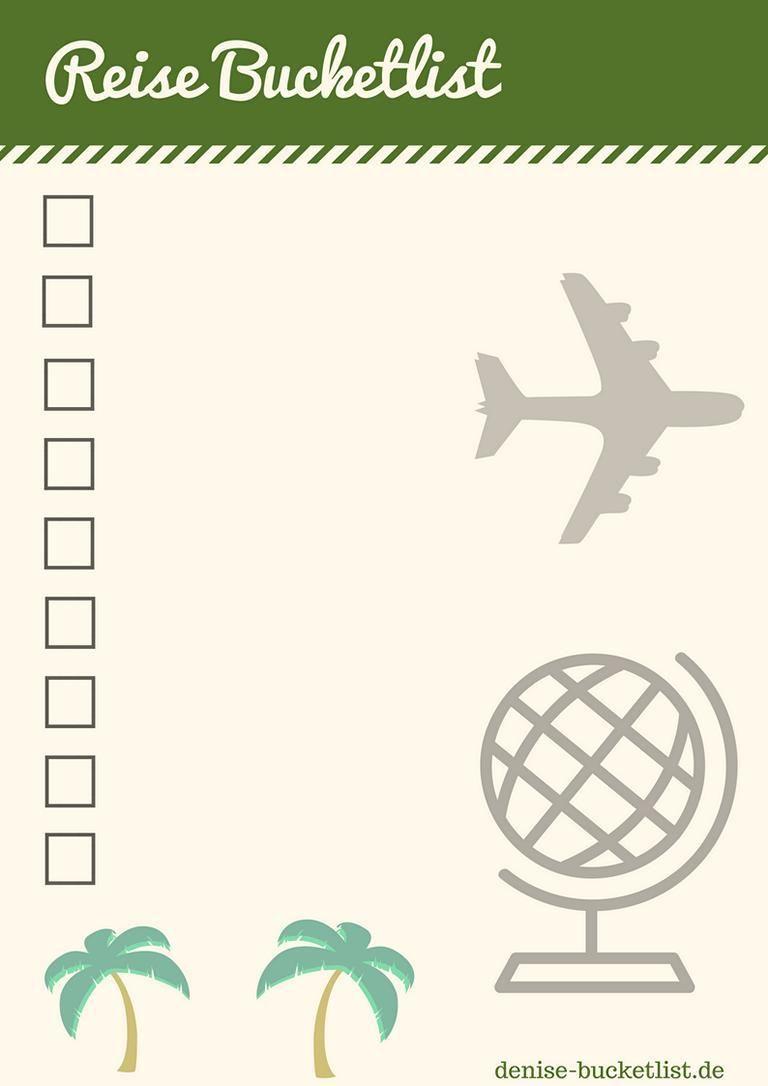 Bucket List Vorlage Eine Bucket List Erstellen Inkl Loffelliste Download Vorlagen Reisen To Do Liste Vorlage