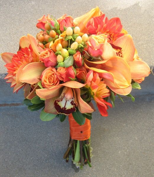 See Bella Rosa Floral On Weddingwire Orange Wedding Flowers