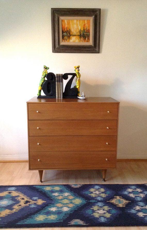 Best Mid Century Modern Dresser 1950S Blonde Mahogany Mid 400 x 300