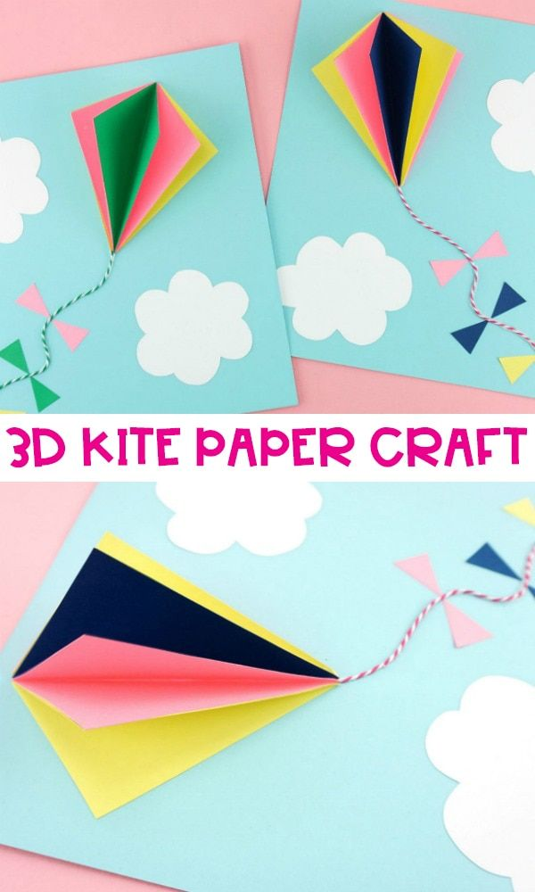 Paper Hot Air Balloon -Easy, colorful summer kids craft