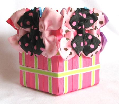 hairbow gift basket