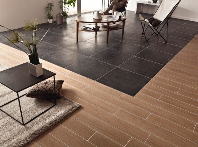 Carrelage bois et carrelage beton cire floor pinterest for Carrelage et parquet