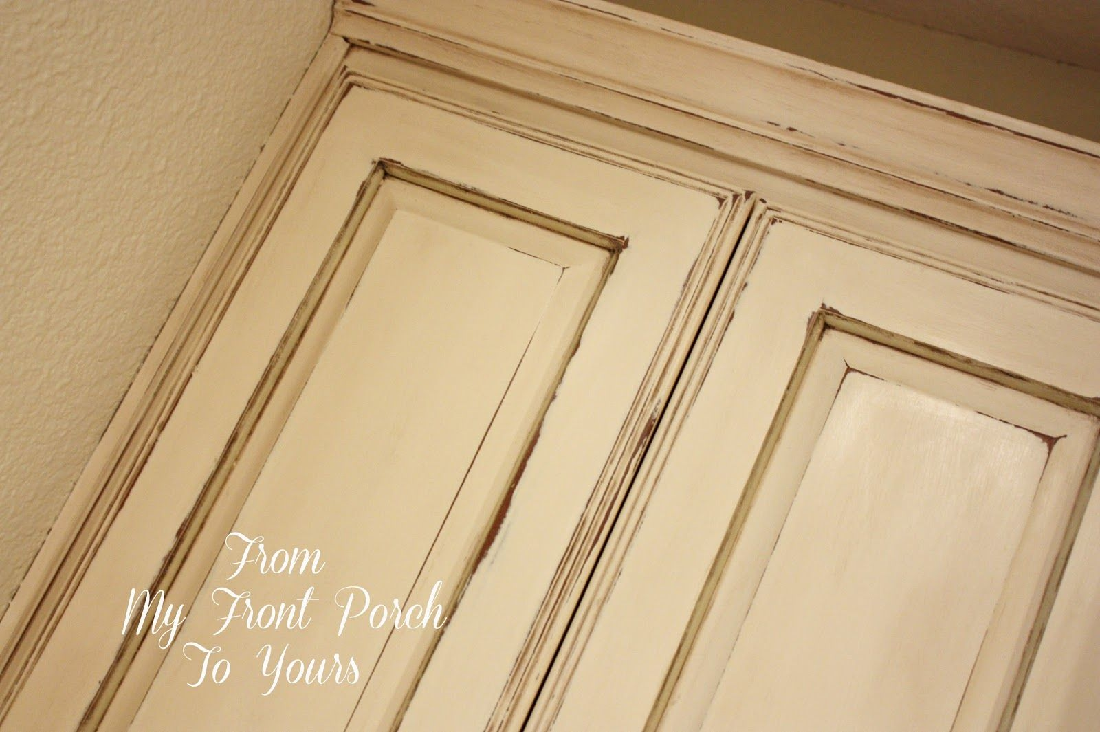 some good information on chalk paint-From My Front Porch To Yours: How I Created My Kitchen Cabinet Finish