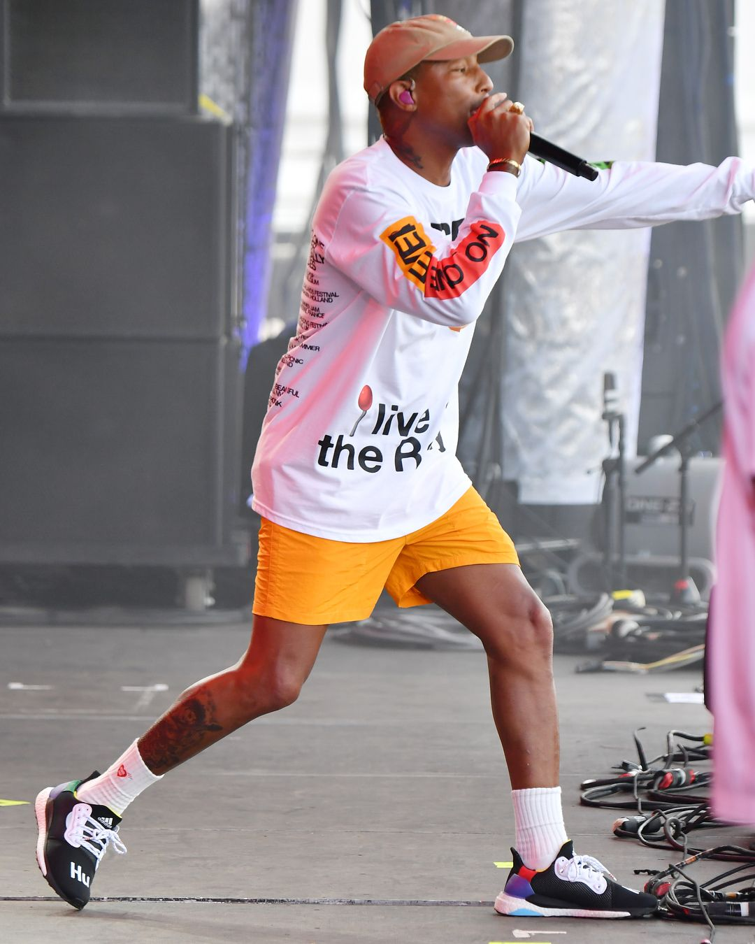 "3fb7b803e13 Bleacher Report Kicks on Instagram  "" Pharrell wearing his Adidas Solar Hu  Glides at the Outside Lands Music and Arts Festival."""