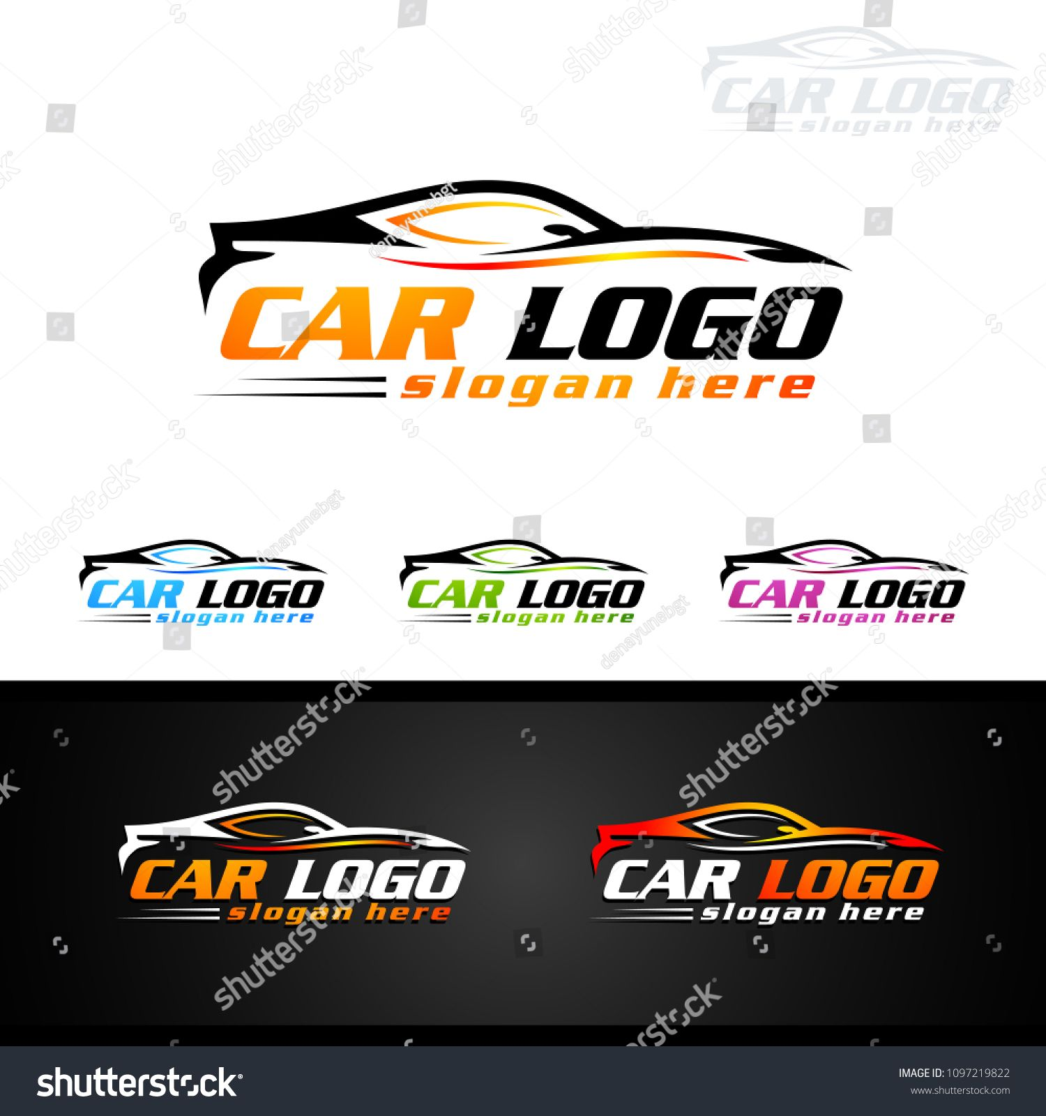 Auto Car Logo For Sport Cars Rent Wash Or Mechanic Sport Cars