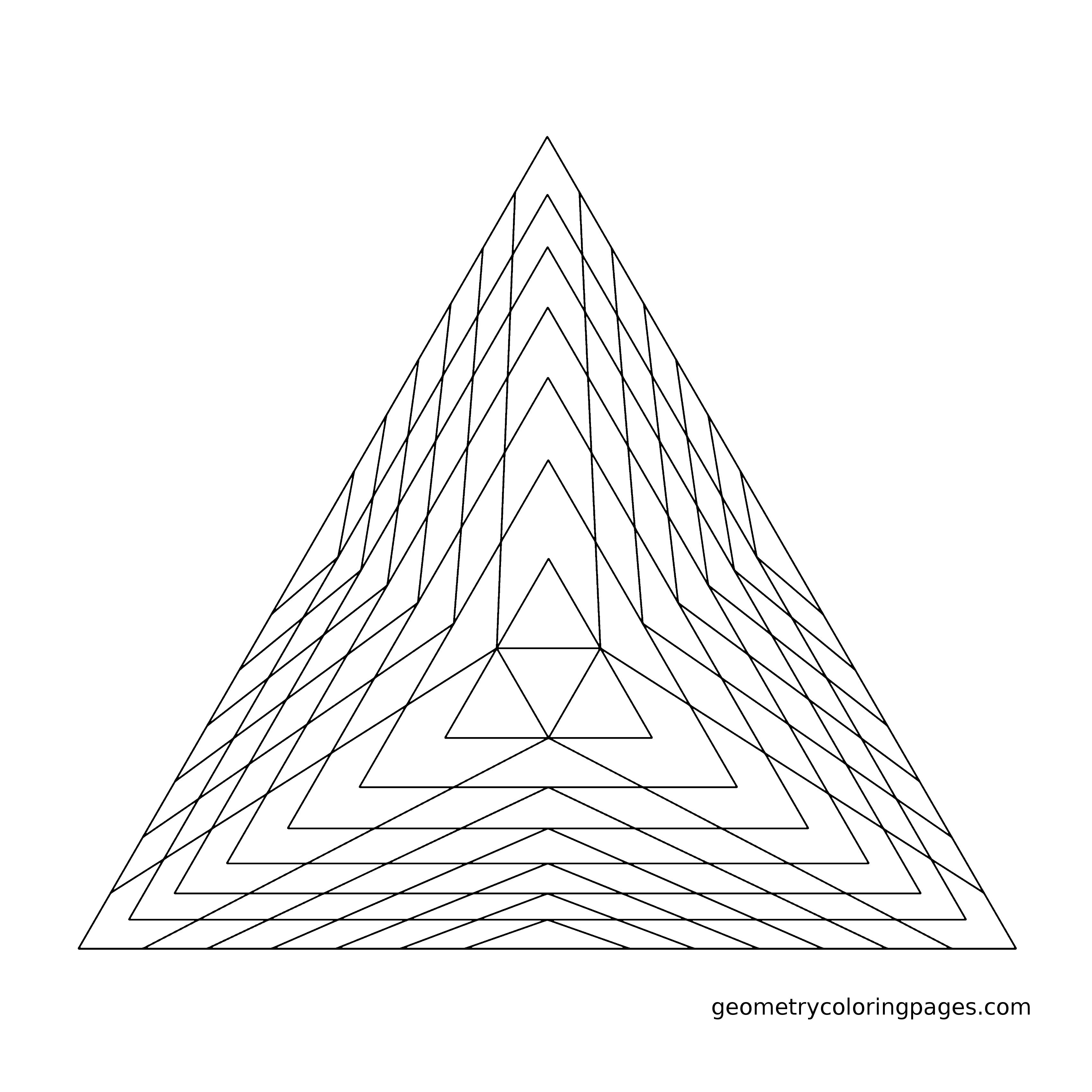 Geometry Coloring Page, Pyramid from geometrycoloringpages