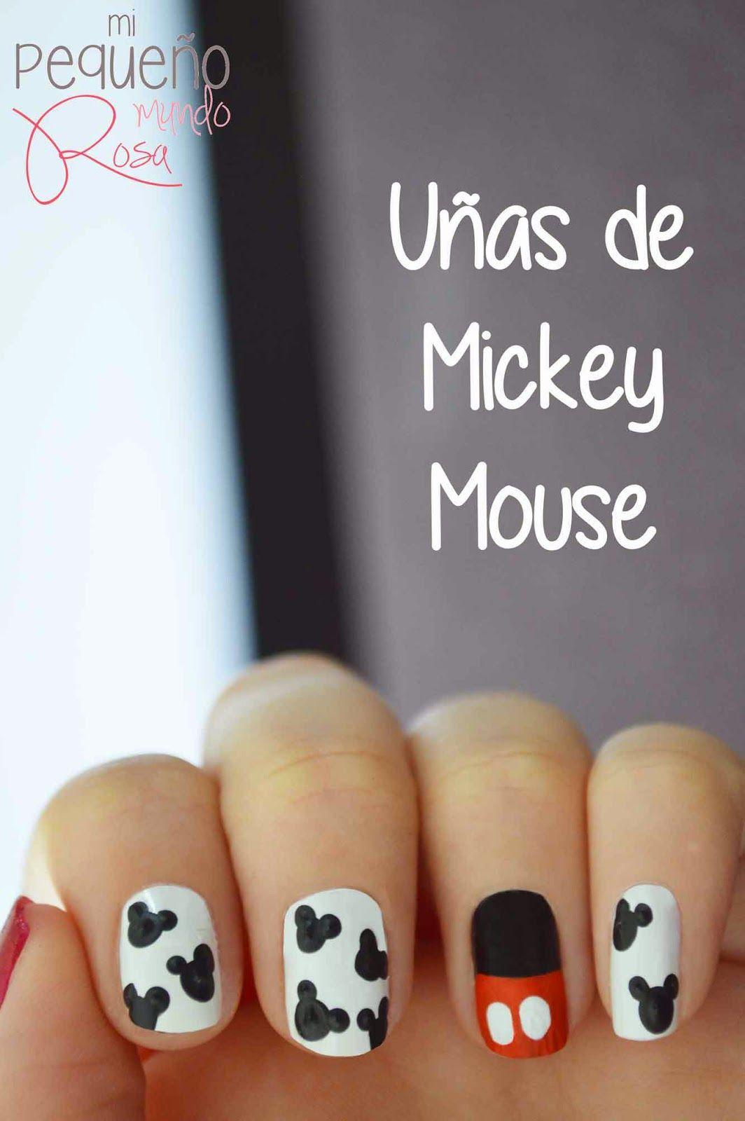 Mi pequeño mundo rosa ♥: Diseño de uñas de Mickey Mouse ♥ | Nail ...