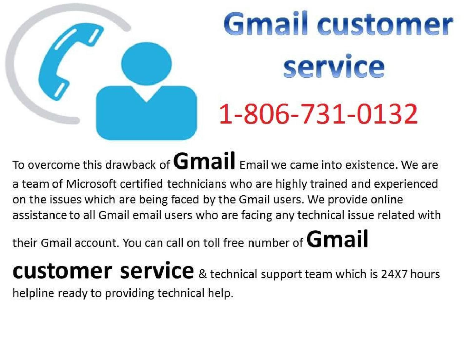 Best service for gmail customer care number 1 806 731 0132