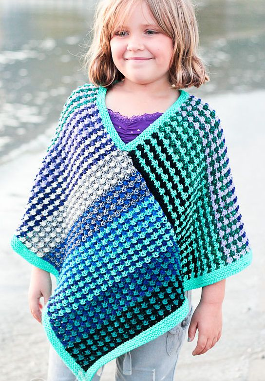 Free Knitting Pattern for Ice Queen Poncho for All Sizes ...