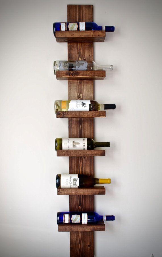 Rustic Wine Rack Vertical