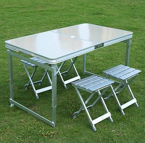 Stupendous Aluminum Outdoor Table Sets 1 Table 4 Chairs Folding Table Uwap Interior Chair Design Uwaporg