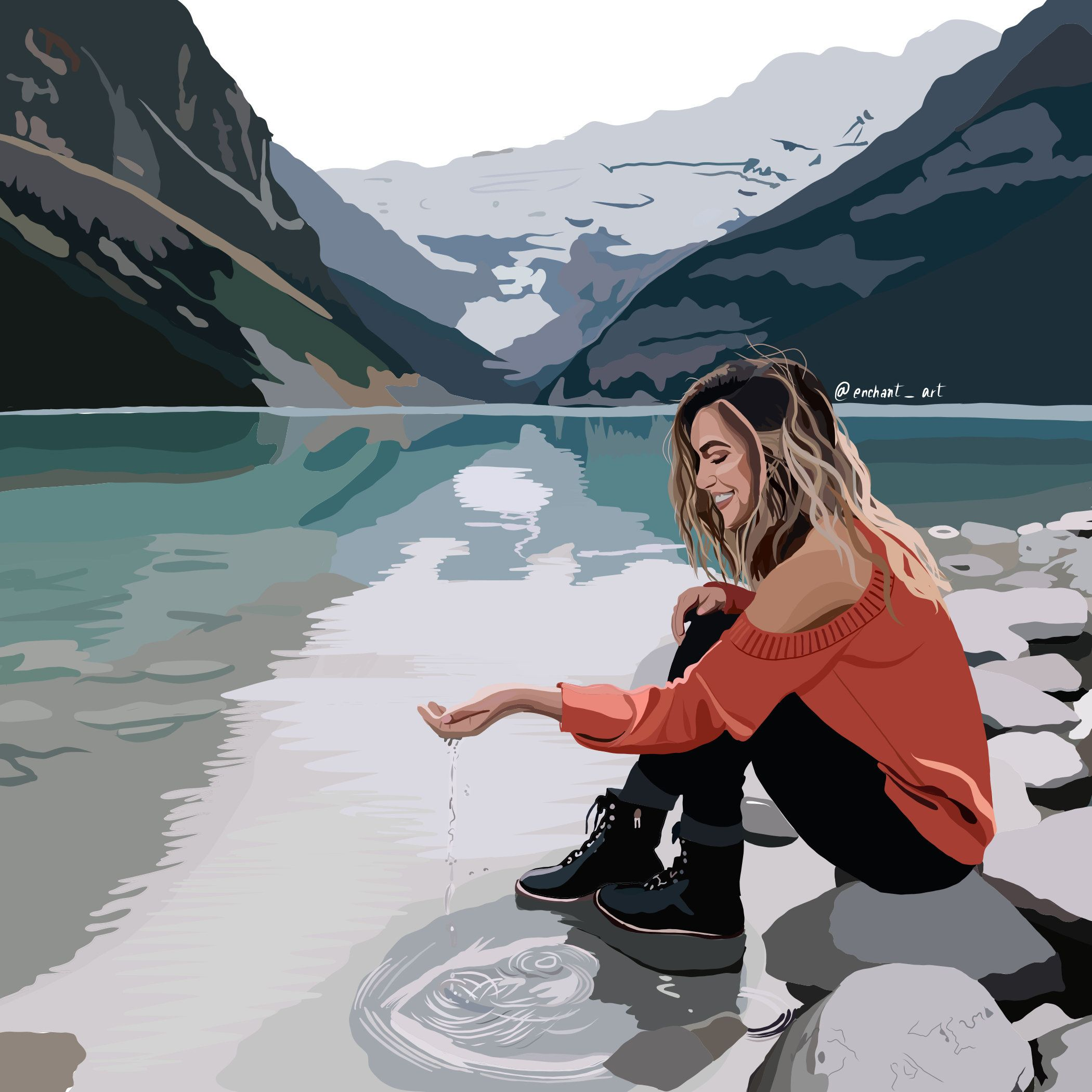 Photo of Custom Detailed Digital illustration digital art vector | Etsy