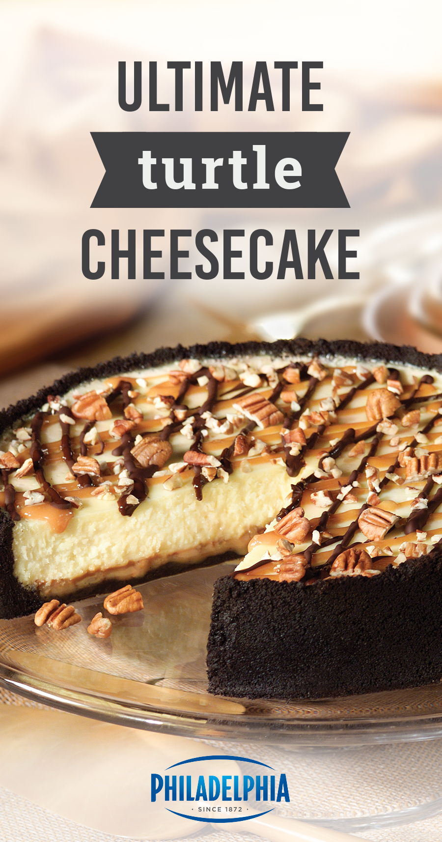 Cheesecakerecipes Ultimate Turtle Cheesecake Recipe Oreo Cookie Crust Turtle Cheesecake Recipes
