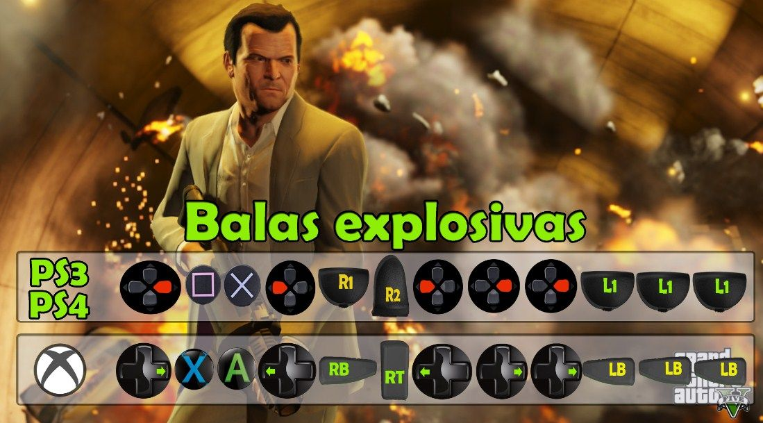 Balas Explosivas Trucos Para Gta V Trucos De Gta 5 Trucos De Gta V