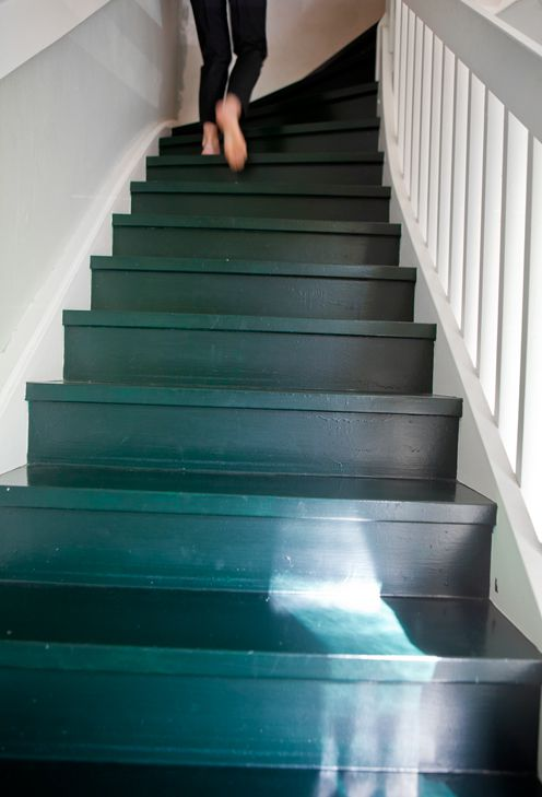 Indoor Outdoor Living Brooklyn Style Gray Stairs Painted