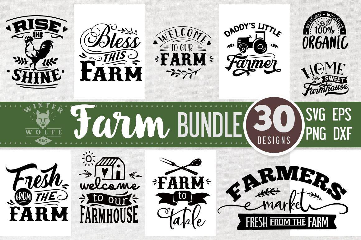 Farm Bundle SVG 30 Designs (Graphic) by WinterWolfeSVG