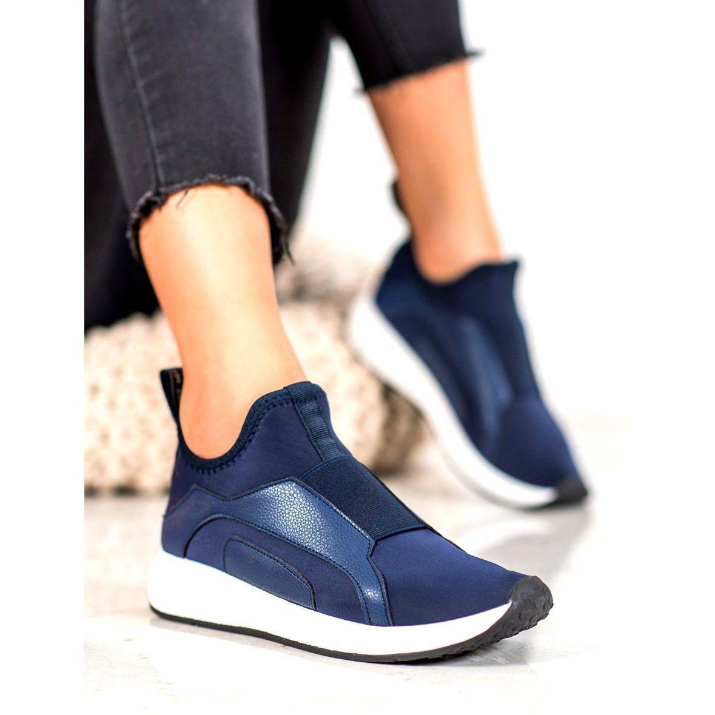Bona Granatowe Buty Na Platformie Niebieskie Blue Platform Shoes Navy Blue Heels Platform Shoes