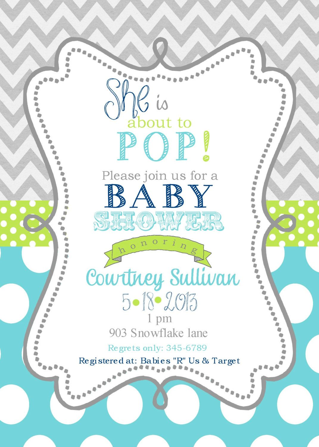 Baby Shower Invitations With Images