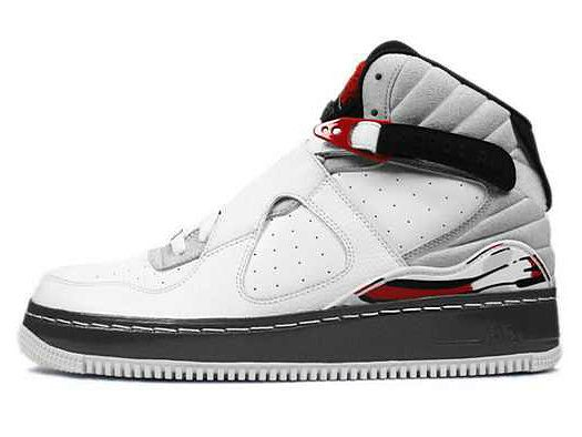 58005a271315f0 Air Jordan 8 VIII Air Force 1 Fusion AJF8 White-Black-Varsity Red-Natural  Grey. Find this Pin and more on nike shoes ...