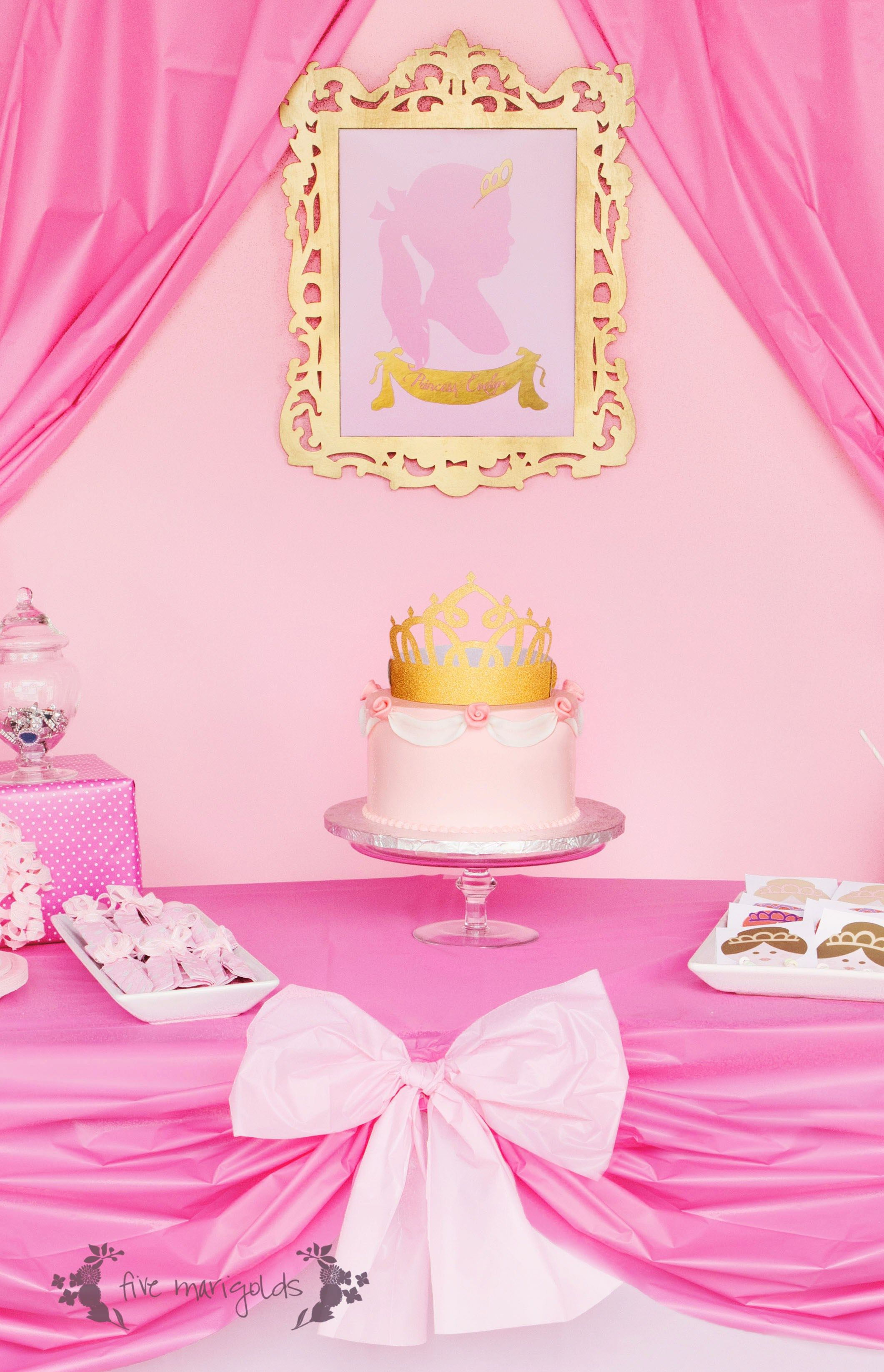 Complete Pink Princess Party for Less than $20 | Birthday party ...