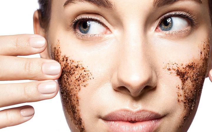 how to make coffee ground face mask