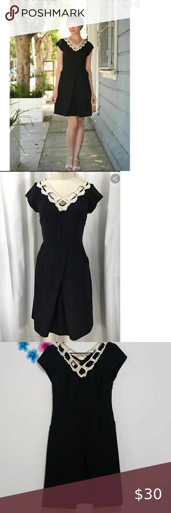 Hp Libertine For Target Vintage Black Dress Sz 9 Vintage Black Dress Black Dress Odd Molly Dress [ 1740 x 580 Pixel ]